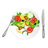 Vegetarian vegetable salad Stock Image