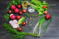 Vegetarian vegetable salad Royalty Free Stock Photos