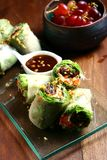Vegetarian or vegetable spring roll Stock Photography