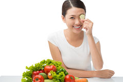 Vegetarian vision Royalty Free Stock Image