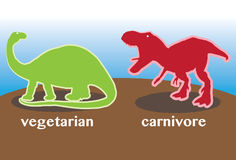 Vegetarian vs Carnivore Royalty Free Stock Photos