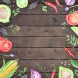 Vegetarian Watercolor Menu Template Royalty Free Stock Image