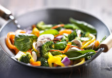 Vegetarian wok stir fry Royalty Free Stock Photography