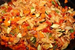 Vegetarian Wok Stir Fry. Cooking Vegetarian Wok Stir Fry royalty free stock photo