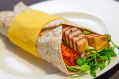 Vegetarian wrap Royalty Free Stock Images