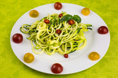 Vegetarian zucchini noodles Royalty Free Stock Image