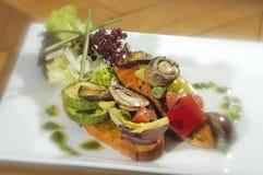 Vegetariana de Crostini Fotos de archivo