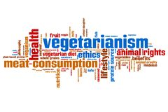 Vegetarianism word cloud. Vegetarianism concepts word cloud illustration. Word collage concept Stock Photo