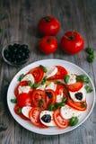 Vegetariano caprese Foto de Stock Royalty Free