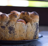 Vegetariano Casatiello foto de archivo libre de regalías