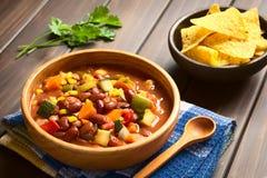 Vegetariano Chili Dish Immagini Stock Libere da Diritti