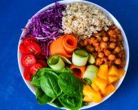 Vegetariano comendo bacia-limpo da Buda sem glúten imagens de stock royalty free