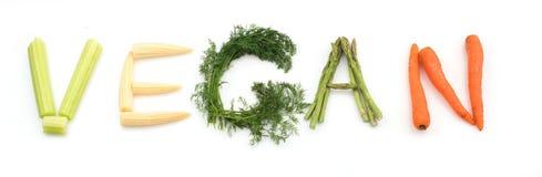 Vegetariano da palavra feito dos vegetais Imagem de Stock