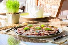 Vegetariano de la pizza Imágenes de archivo libres de regalías
