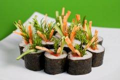 Vegetariano dei sushi fotografia stock