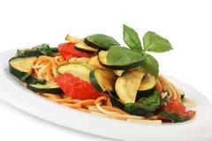 Vegetariano del espagueti Imagen de archivo libre de regalías