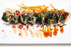 Vegetariano del rotolo di sushi Fotografia Stock Libera da Diritti