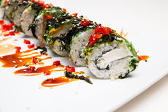 Vegetariano del rotolo di sushi immagine stock libera da diritti
