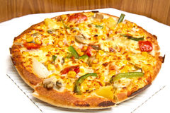 Vegetariano della pizza Immagine Stock