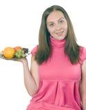 Vegetariano della ragazza fotografia stock libera da diritti