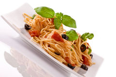 Vegetariano do espaguete Imagem de Stock Royalty Free
