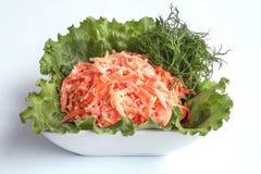 vegetariano Erva-doce, verde da folha da salada e cenouras com creme de leite Foto de Stock