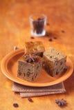 Vegetariano Honey Coffee Cake con l'uva passa fotografia stock libera da diritti