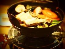 Vegetariano japonês do alimento de Shabu Shabu fotografia de stock