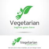 Vegetariano Logo Template Design Vetora Fotografia de Stock