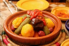 Vegetariano Tagine fotografie stock libere da diritti