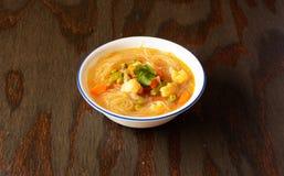 Vegetariano Thukpa, minestra di pasta da Arunachal Pradesh Fotografia Stock Libera da Diritti