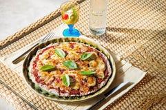 Vegetariano y helado de la pizza Fotografía de archivo libre de regalías