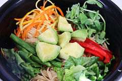 Vegetarianos da bacia do macarronete Imagem de Stock