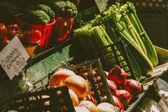 Vegetarianos do mercado Imagens de Stock