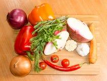 Vegetarianos e especiarias foto de stock