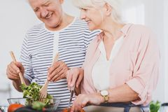 Vegetarians couple have a good time stock photos