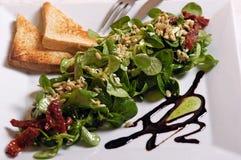 Vegetarians salad. Photo of vegetarian salad with decoration Stock Photos