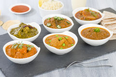 Vegetarier curries stockfotografie