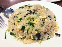 Vegetarier Fried Rice Black Fungus Egg stockfotografie