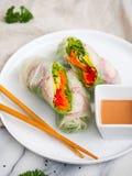 Vegetarisch broodje Royalty-vrije Stock Foto