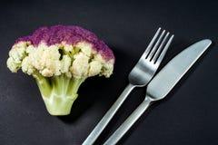 Vegetarisch dinerconcept Dieet royalty-vrije stock afbeelding