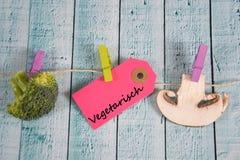 Vegetarisch - german for vegetarian Royalty Free Stock Images