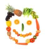 Vegetarisch gezicht Royalty-vrije Stock Afbeeldingen