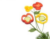 Vegetarisch gezond voedsel stock afbeeldingen
