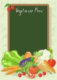 Vegetarisch Menu Stock Foto's