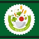Vegetarisch menu royalty-vrije illustratie