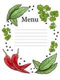 Vegetarisch menu Stock Fotografie