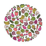 Vegetarisch ontwerpelement Royalty-vrije Stock Afbeelding