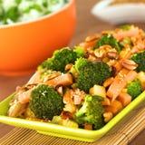 Vegetarisch Rühren-Braten Sie Siamesisch-Art lizenzfreies stockfoto