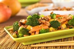 Vegetarisch Rühren-Braten Sie Siamesisch-Art lizenzfreies stockbild
